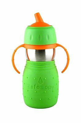 Kid Basix Safe Sippy Cup, The Original Stainless Steel Sippy Cup, Green, 11oz