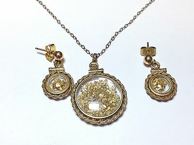 REAL GOLD NUGGETS Necklace / Pendant / Earring Set - Incredible Set - L@@K!!!