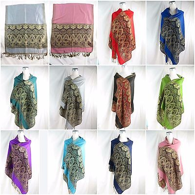 US SELLER-5pcs retro vintage wholesale lot women hijab viscose pashmina scarves