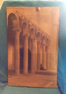 German Theodor Groll Oil On Canvas Architectural Painting Nineteenth Century