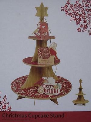 Christmas Cupcake Stand ~ MDF Wood Scrapbooking Craft Beyond The Page Project