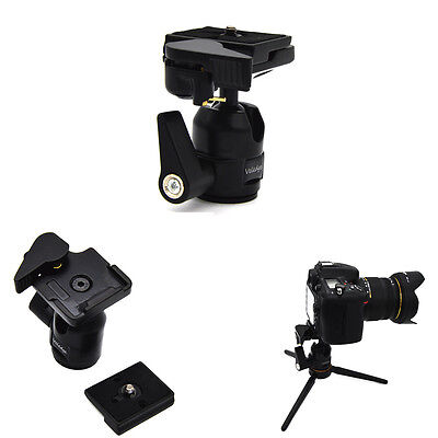360 Rotate Camera Camcorder Tripod Monopod Ball Head Quick Release Plate Black