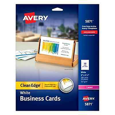 Avery Business Card Office Supplies Printer Paper White Paper 2 Sided Card Paper