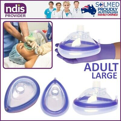 Airway Resus Anaesthetic Mask Soft Cushion Size 6 Large Adult