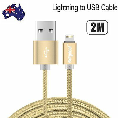 2M For iPhone 6s 5s plus iPad USB data cable FAST charger lightning cord