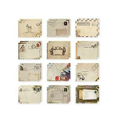 60Pcs Mini Paper Ancient Envelope Retro Pattern Stationery Christmas Kid Gift