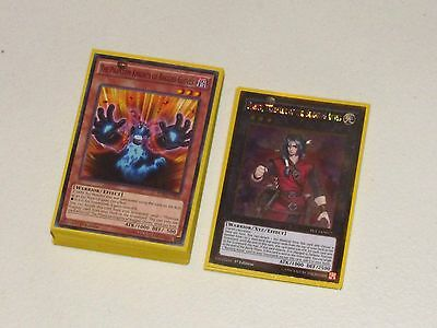 Yu-Gi-Oh! PK Fire Burning Abyss Core deck + new sleeves