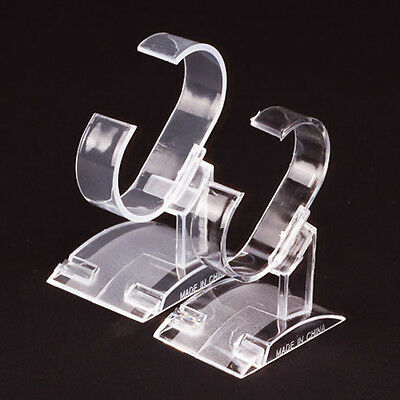 New Clear Plastic Wrist Watch Display Rack Holder Show Watch Case Stand Tool Hot