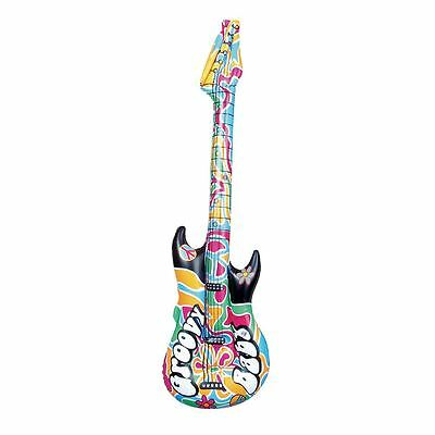 """42"""" Inflatable Hippy Guitar Musical Instrument Kids Party Blow Up Novelty Toy"""