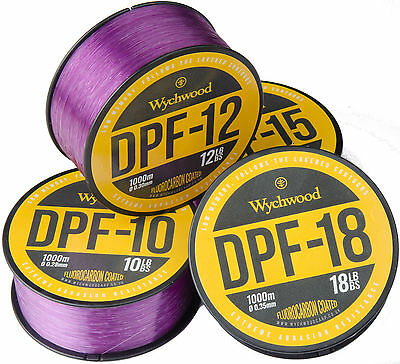 Wychwood Dpf Purple Filament Fluorocarbon Coated Mono Fishing Line 1000M 10-18Lb