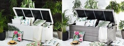 kissenbox rattan truhe f r auflagen box rattanbox rattantruhe polyrattan eur 249 00. Black Bedroom Furniture Sets. Home Design Ideas