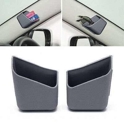 1Pair Gray Universal Car Auto Accessories Glasses Organizer Storage Box Holder