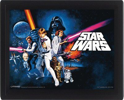 Star Wars A New Hope Leia Luke Han Solo Darth Vader R2D2 3D Motion Poster Photo