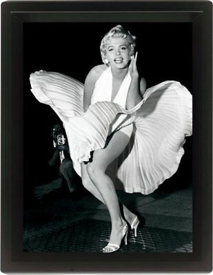 Marilyn Monroe Up Skirt Iconic Image Picture 3D Motion Moving Poster Photo Print