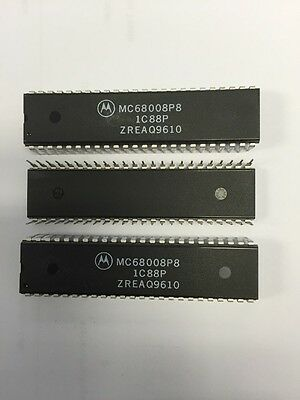 Mc68008P8 16 Bit Microprocessor 48 Pin Dip New Motorola