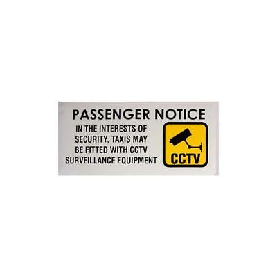 CCTV Recording Window Sticker/Sign For Taxis
