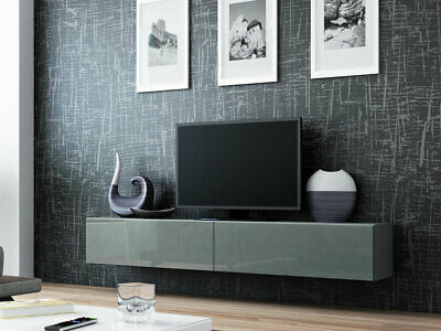 h nge tv schrank lucas 180 tv kommode lowboard h ngeschrank wei schwarz h ngend eur 105 00. Black Bedroom Furniture Sets. Home Design Ideas