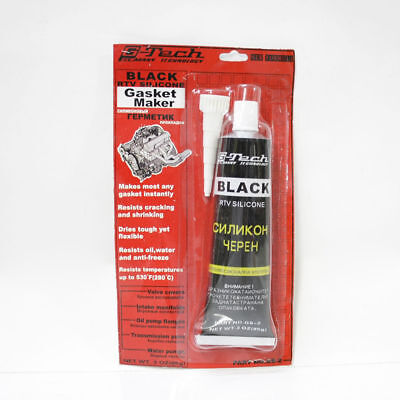 G-Tech RTV Silicone Instant Gasket Maker Black High Temperature Sealant 85g Tube