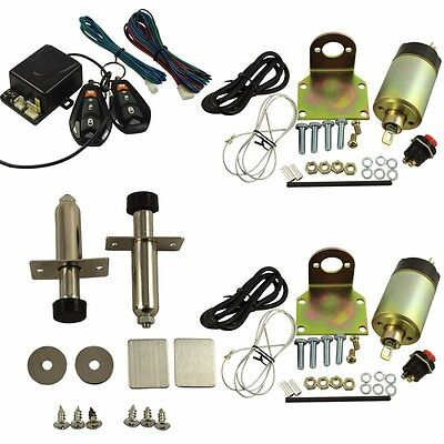 Door Popper Kit for 2 Door with 2 Remotes - 80 lbs Popper System - Easy Install