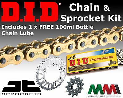 Yamaha MT-125 MT125 2015 Motorcycle DID UPGRADE Gold Chain and Sprocket Kit