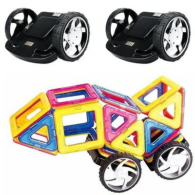 2pcs Magnetic Building Blocks Magformers Alloy Wheels Children Learning Game Toy