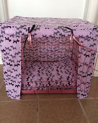Made To Measure Dog / Puppy Crate Cover / Scottie Dogs Fabric/ 4 Colours