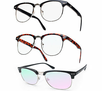 Glasses Clear Lens Unisex Classic Fashion Unisex Retro Vintage Style 80""