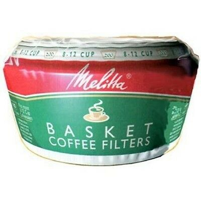 Melitta 629524 Paper White 8-12 Cup Basket Coffee Filters - 200 / Pack