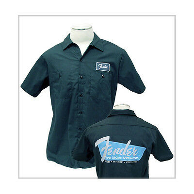 Fender Fine Electric Instruments Work Shirt, Charcoal, Small (NEW)