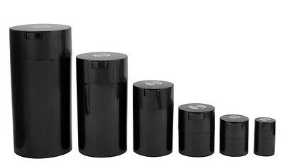 Black TIGHTVAC Vacuum Jars Smell Proof Airtight Container Storage Food