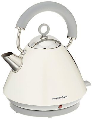 Morphy Richards Accents White Pyramid 1.5L Kettle 3kW Stainless Steel 102031