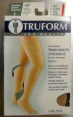 TRUFORM Medical 18 mmHg CLOSED TOE Thigh High Stocking 8810 Beige XL