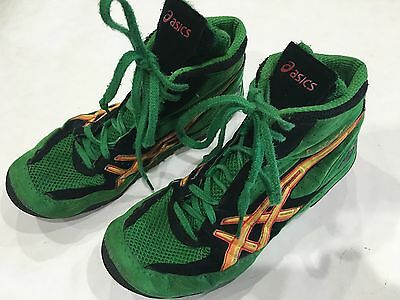 Asics Cael Sanderson Wrestling Shoes Green 7 US