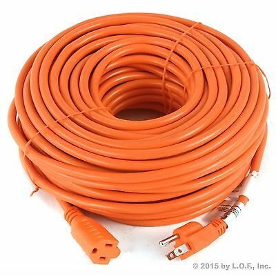 Premium Outdoor Extension Cord 125 Volt Cable 100ft 16/3 Indoor Contractor New