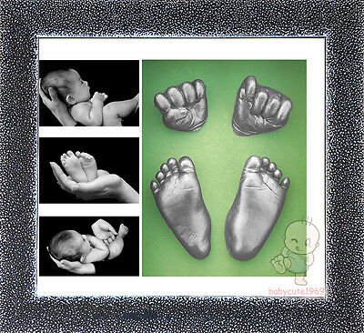 DIY 3D Casting Kit Baby Keepsake & Shadowbox photo frame  #6Silver Starry Sky