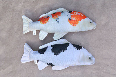 2x KOI CARP pillow stuffed novelty cushion soft toy 60 cm