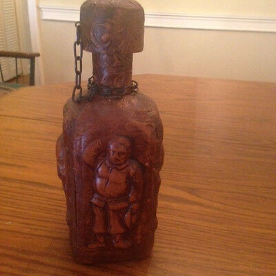 Vintage Leather Covered Don Quixote Decanter