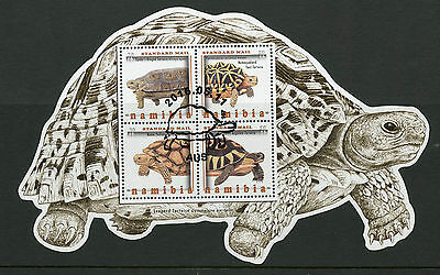Namibia 2016 CTO Tortoises of Namibia 4v M/S Leopard Tortoise Turtles Stamps
