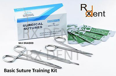 Suture Training Kit Silk Braided Sutures For Dental Medical Students Vets Nurses