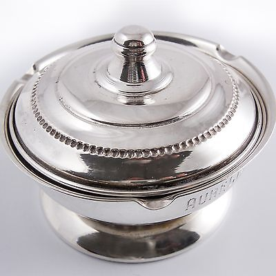 GORHAM STERLING SILVER LIDDED MUSTARD BOWL, — SIGNED, No 825, TIMELESS CLASSIC