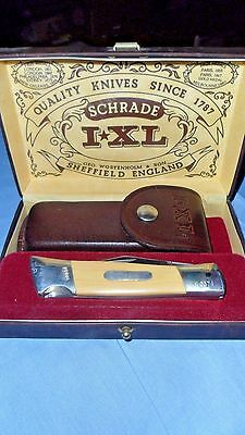Schrade Wostenholm IXL 1 Blade Lockback Knife, Micarta Handle in Box with Papers