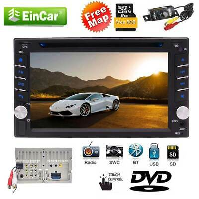 "6.2"" Double 2 DIN Car Stereo DVD Player GPS Navi FM/AM Radio USB+MAP+Camera"
