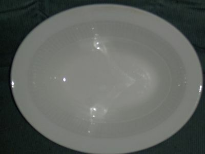 "William Adams & Son Micratex White Ironstone 9 1/4"" Oval Serving Bowl  England"