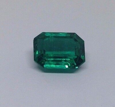 TOP AAA GRADE GREEN COLOUR SYNTHETIC EMERALD 10.76 CTS. 13*10*7 mm EMERALD CUT