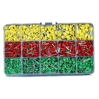 990pcs 5 Sizes Pre-insulated Crimping Wire Ferrules Terminals Assortment Set Kit