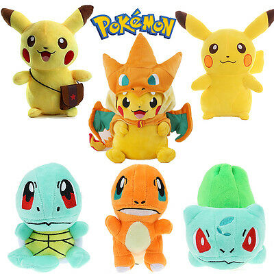 New Pokemon Soft Plush Toy Pikachu Bulbasaur Squirtle Charmander Kid Teddy Doll