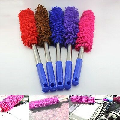 Telescoping Microfiber Duster Car Home Office Round Extendable Cleaning Tool Hot
