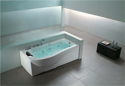 1700 WHIRLPOOL STRAIGHT Bath spa jacuzzi baths designer RIGHT HAND ONLY