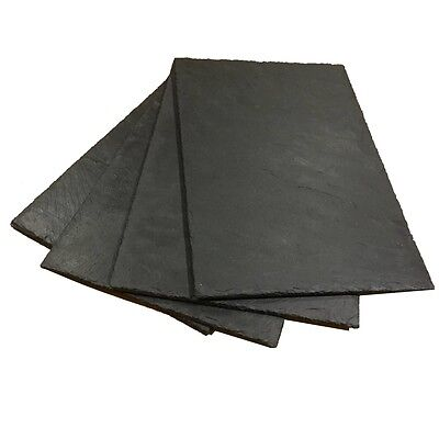 12 Natural Slate Placemats - Handcrafted Table Place Mats Platters Cheeseboards