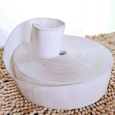 """10 Meters Curtain Heading Polyester Cloth Pinch Pleat Tape 3"""" Width White"""